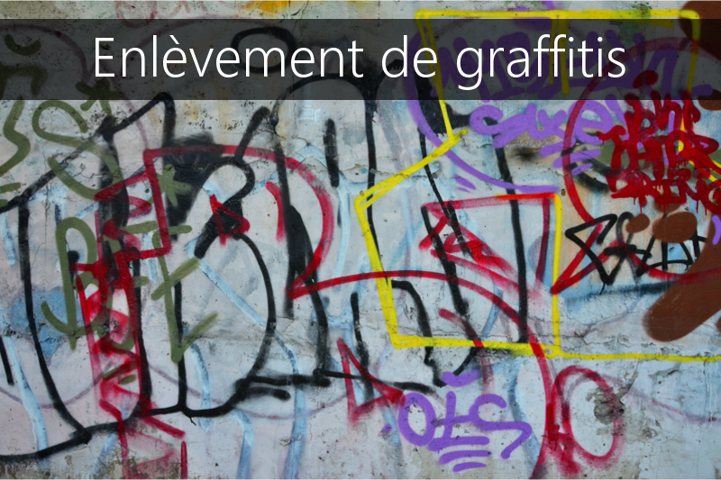 Enlevement de graffitis